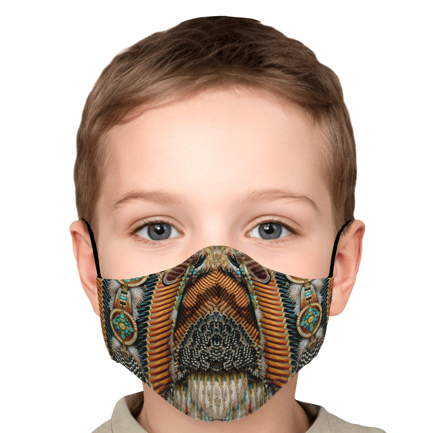 Land Of Peace Native American Face Mask 6