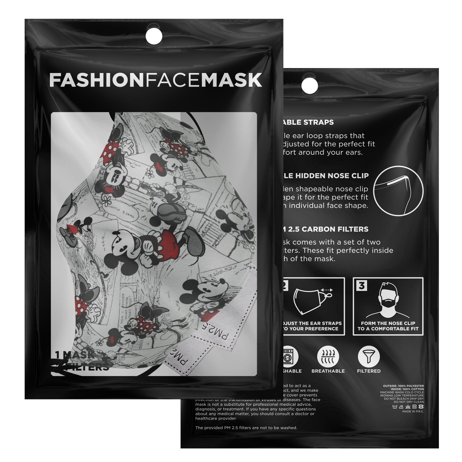 Classic Disney Mickey Mouse Face Mask 3