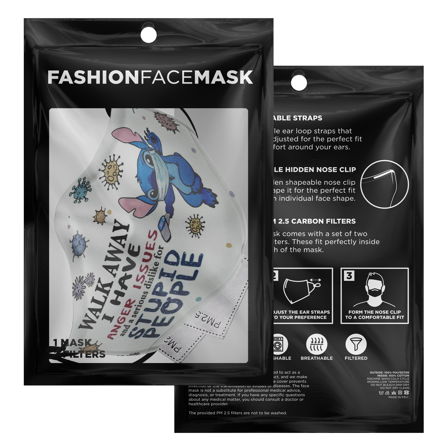 Serious Dislike For Stupid People Covid-19 Stitch Face Mask 9