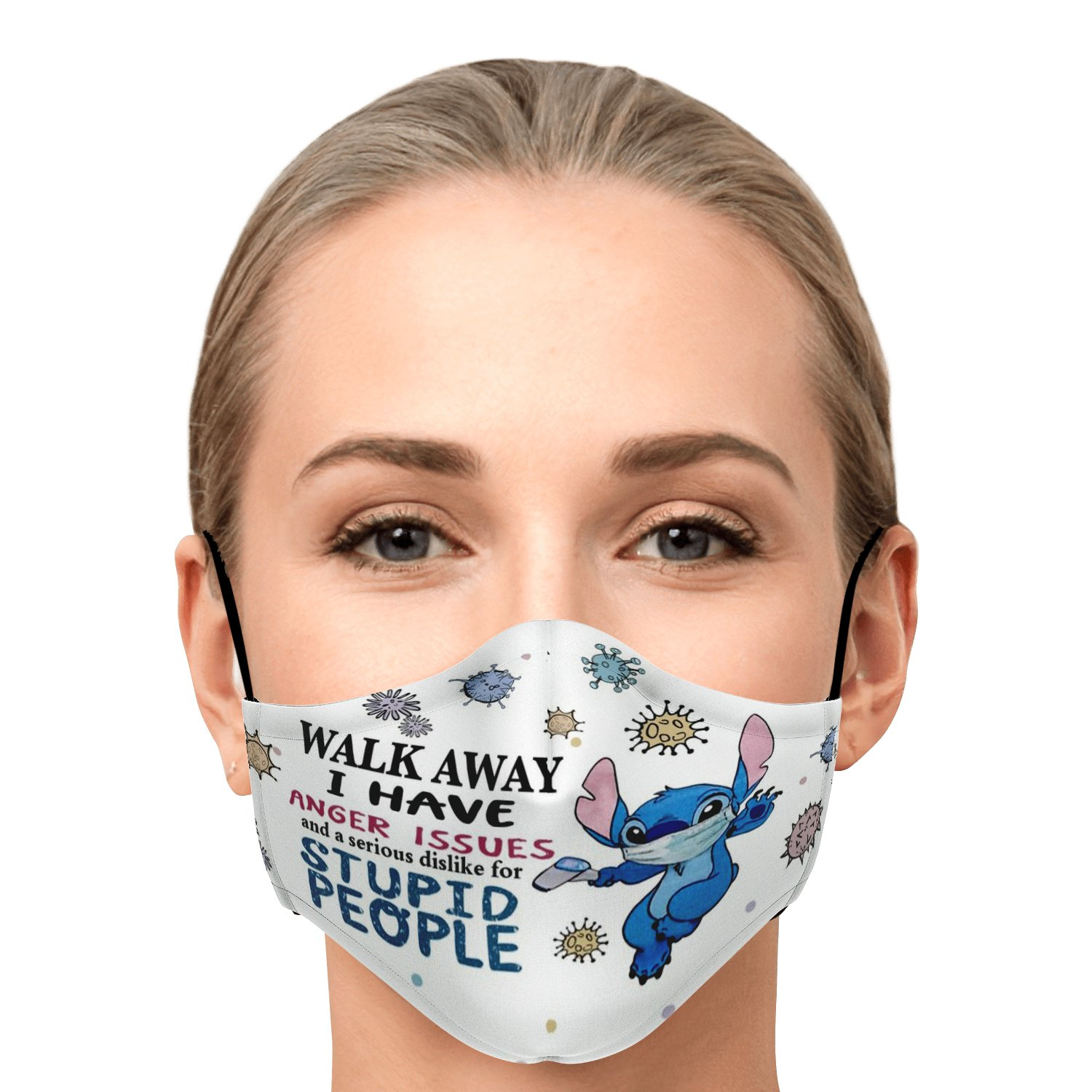 Serious Dislike For Stupid People Covid-19 Stitch Face Mask 1
