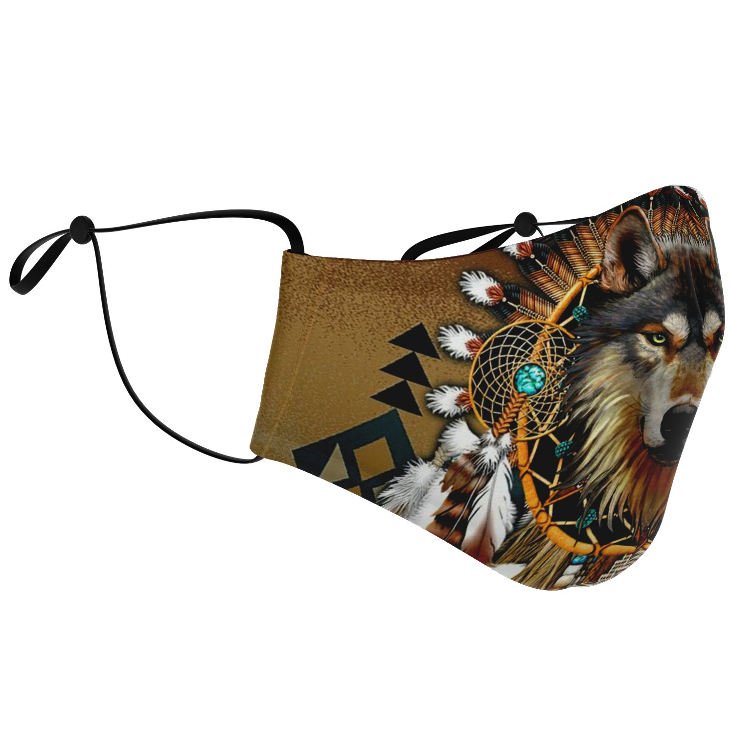 Wolf Leader Navtive American Face Mask 2