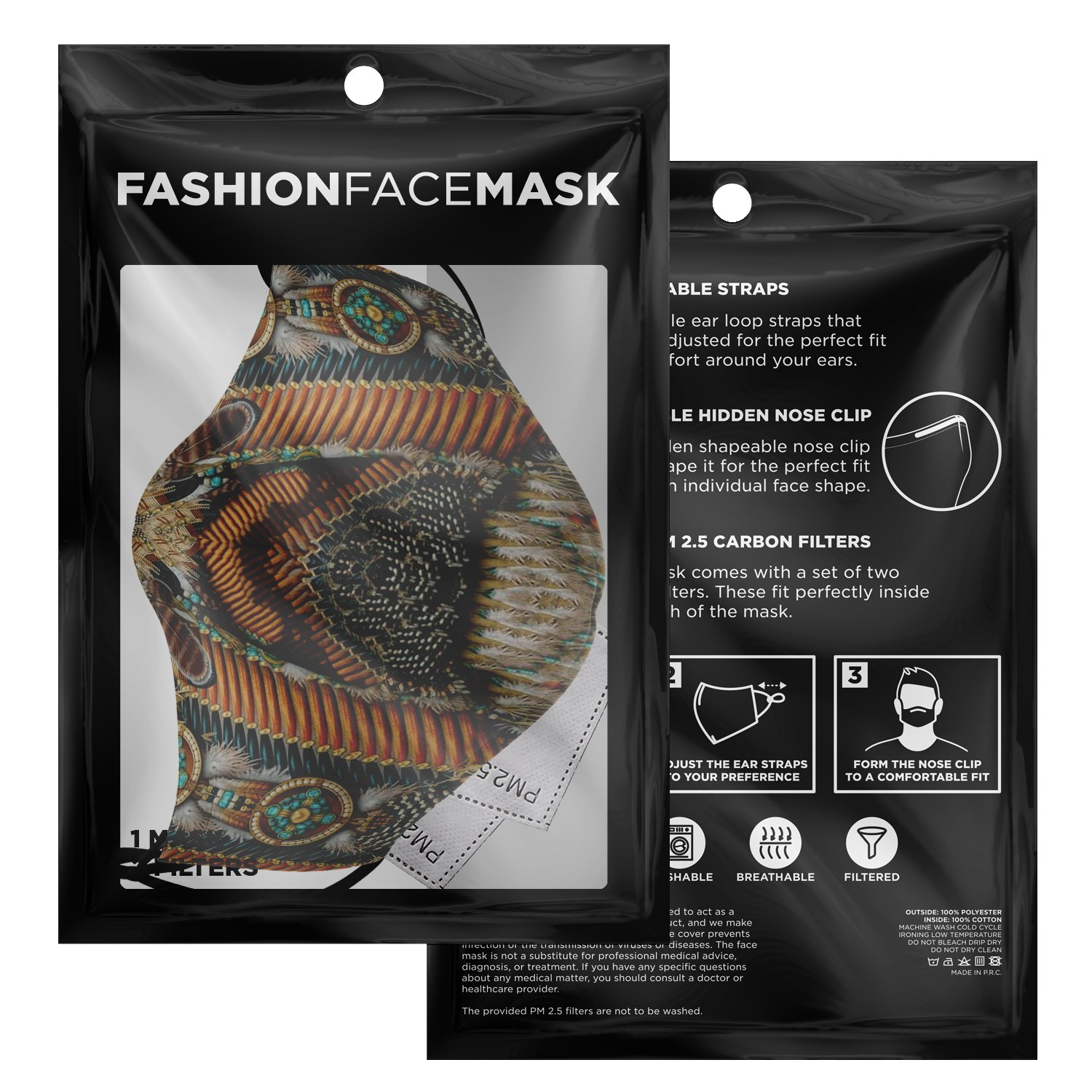 Land Of Peace Native American Face Mask 3
