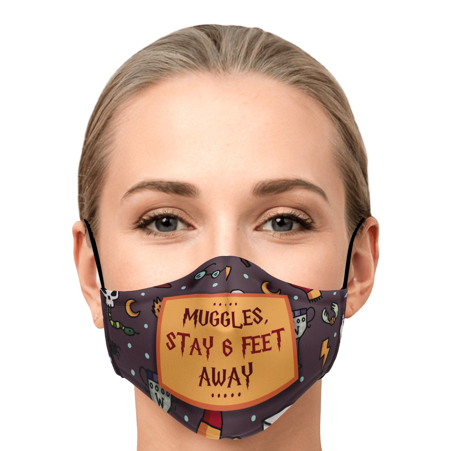 Muggles Stay 6 Feet Away Harry Potter Face Mask 1