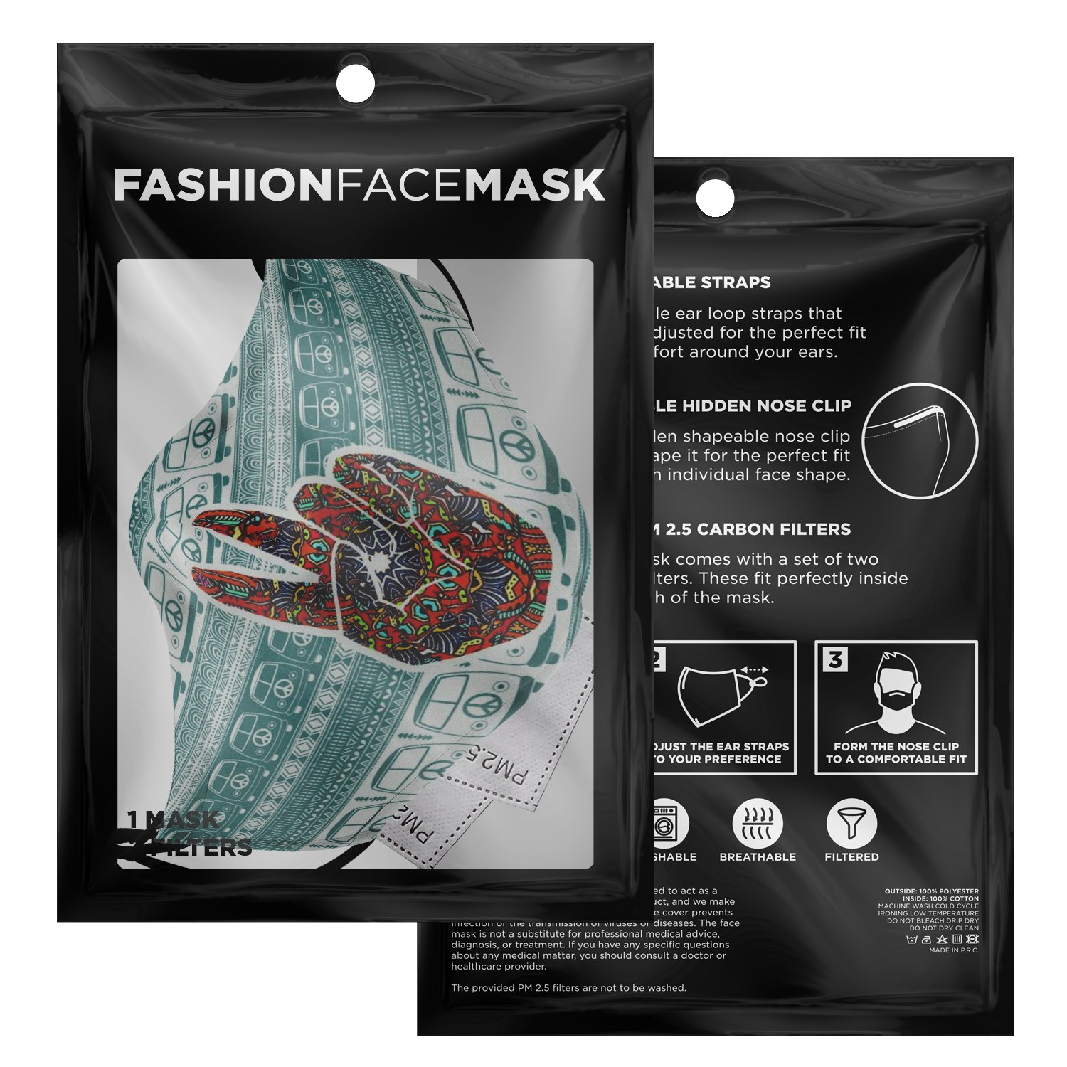 Hippe Van Peace And Love Face Mask 3