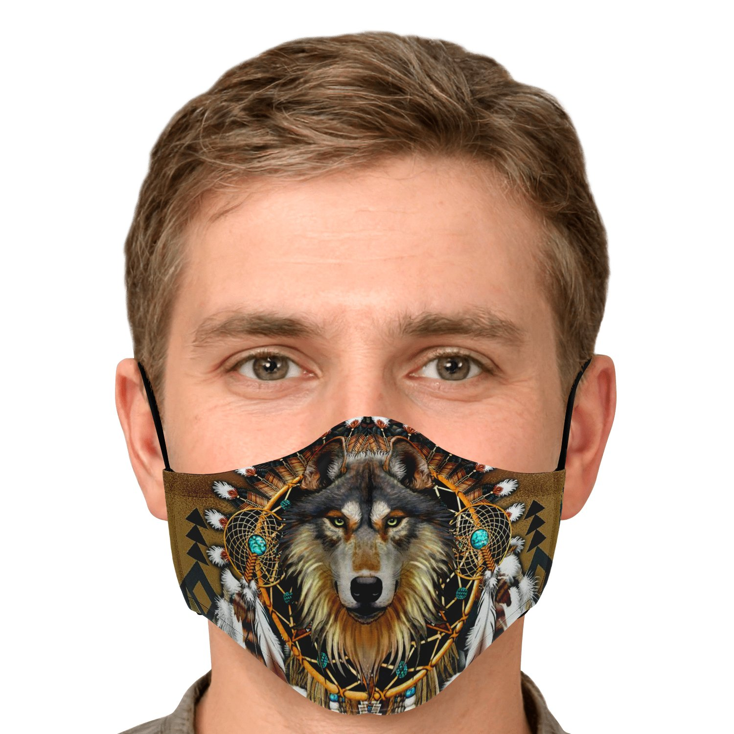 Wolf Leader Navtive American Face Mask 5