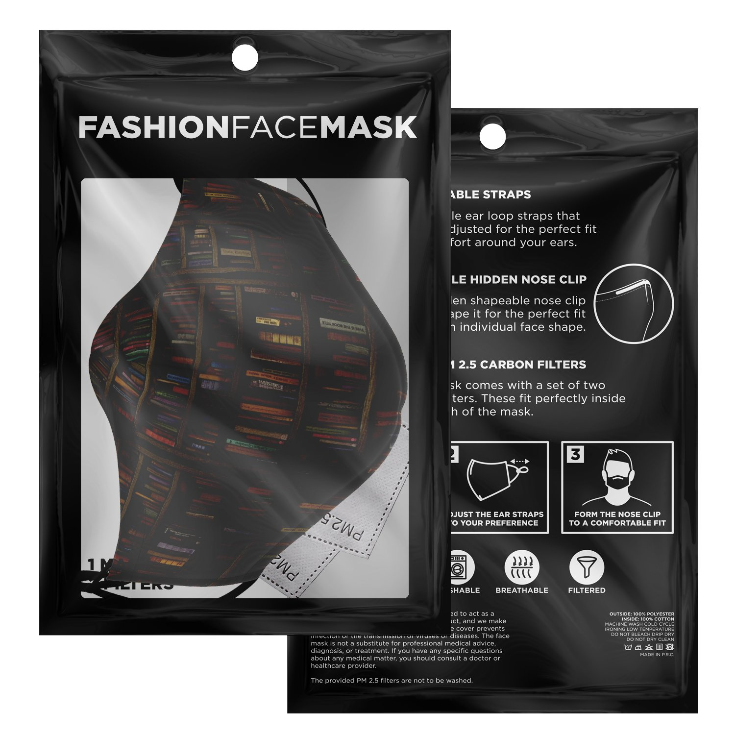 Librarian Old Book Lovers Face Mask 3