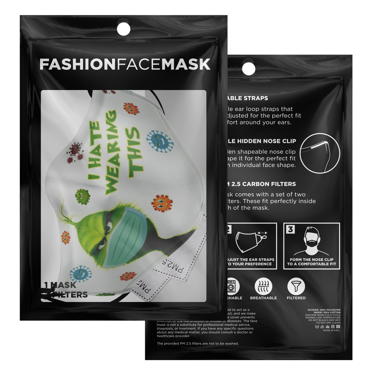 The Grinch I Hate Wearing This Face Mask 3