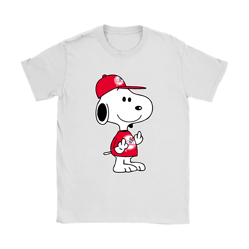 New York Yankees Snoopy Double Middle Fingers Fck You MLB Shirts 14