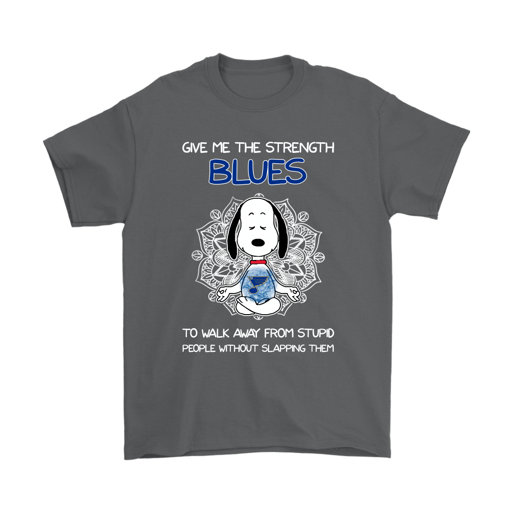 Give Me Strength St. Louis Blues To Not Slap People Snoopy Shirts 2