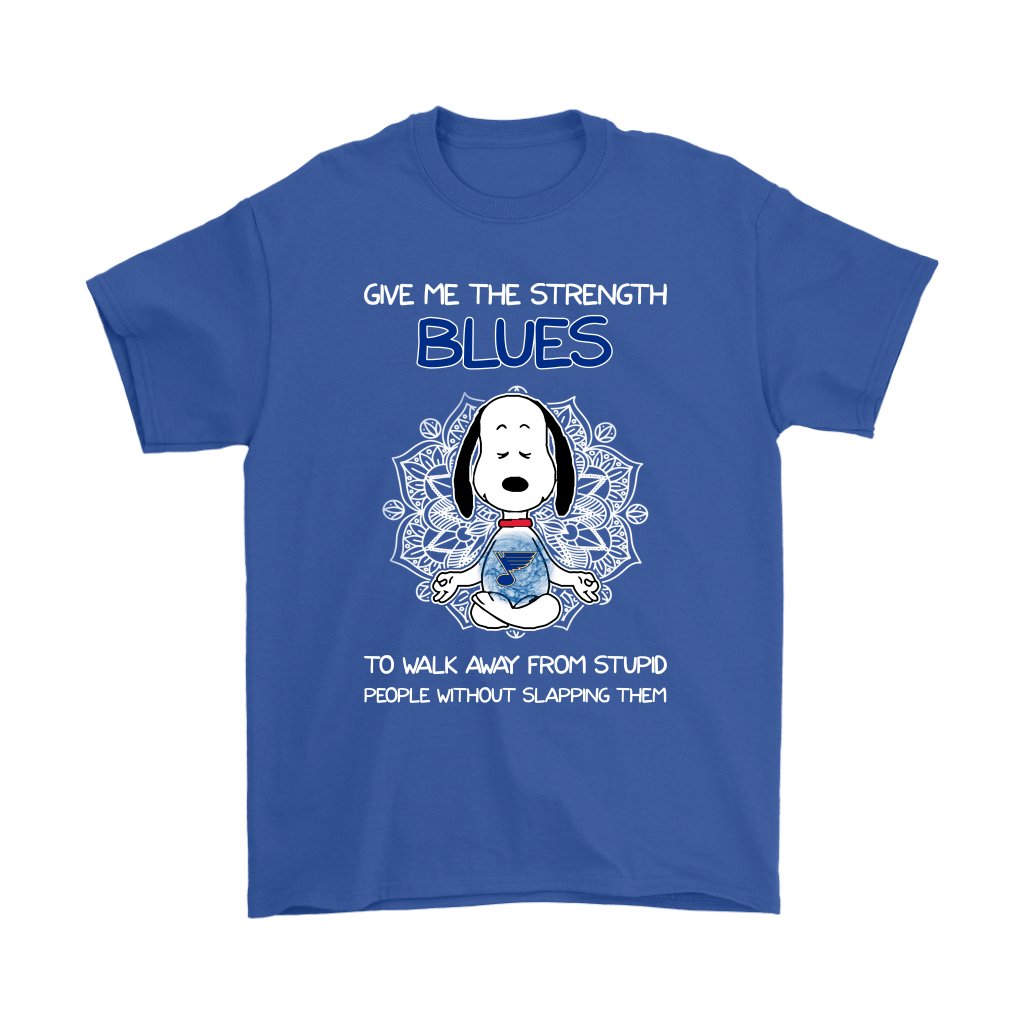 Give Me Strength St. Louis Blues To Not Slap People Snoopy Shirts 5