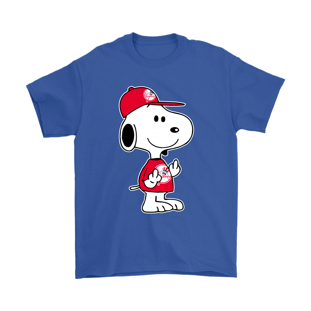 New York Yankees Snoopy Double Middle Fingers Fck You MLB Shirts 5