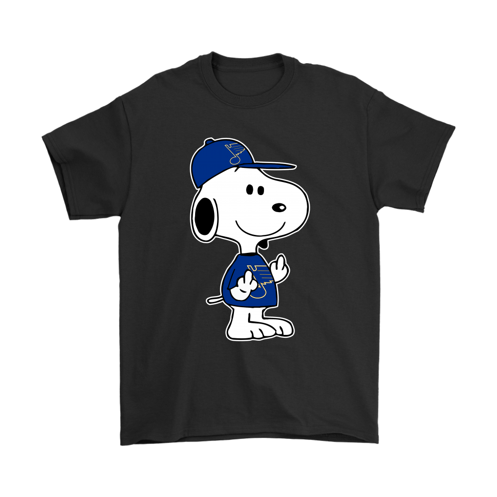 St. Louis Blues Snoopy Double Middle Fingers Fck You NHL Shirts 1