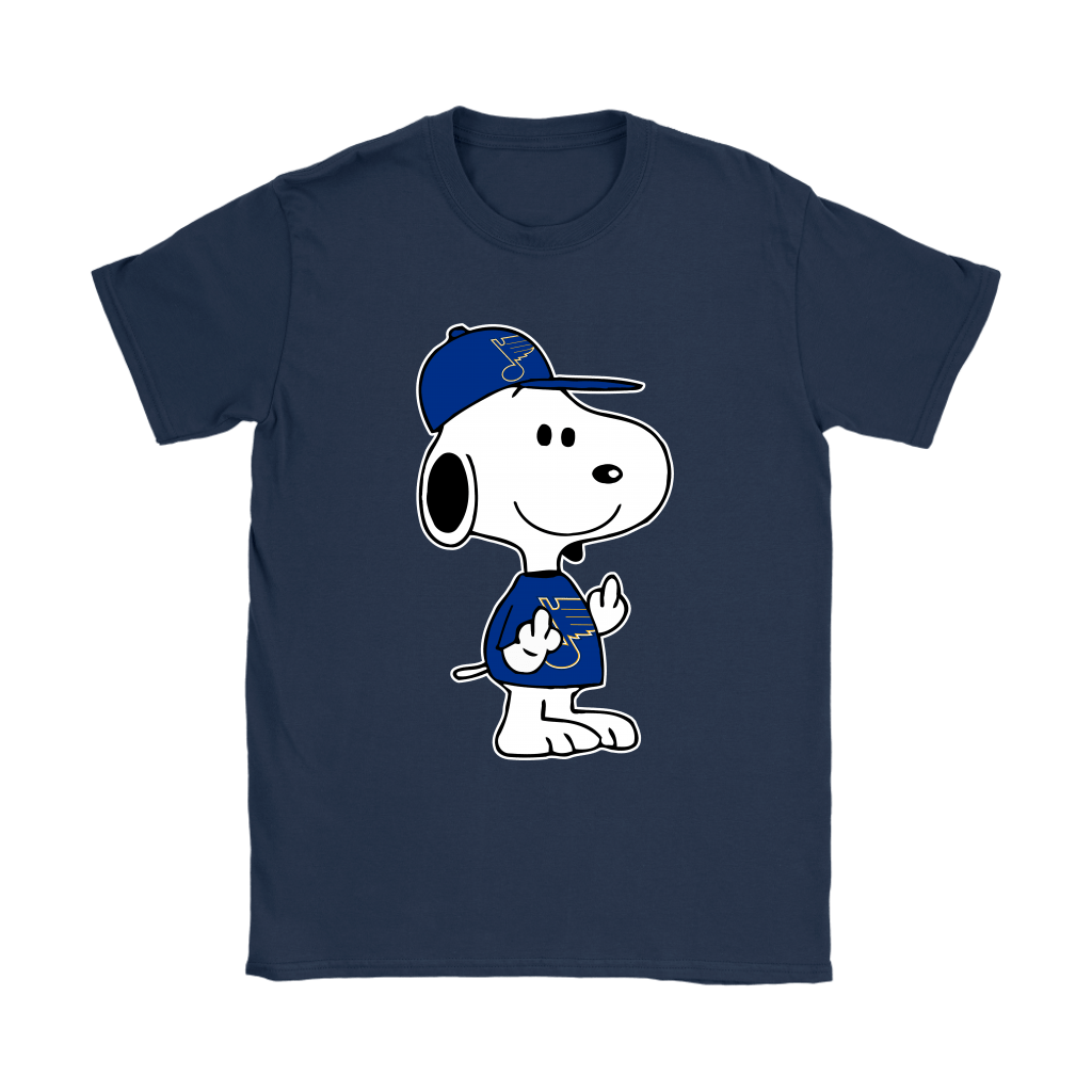 St. Louis Blues Snoopy Double Middle Fingers Fck You NHL Shirts 10