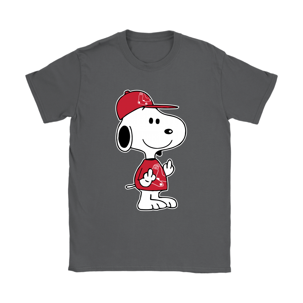Boston Red Sox Snoopy Double Middle Fingers Fck You MLB Shirts 9