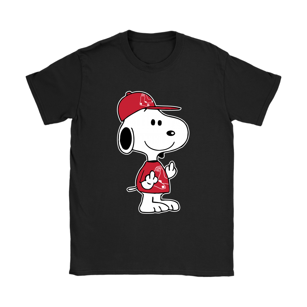 Boston Red Sox Snoopy Double Middle Fingers Fck You MLB Shirts 8