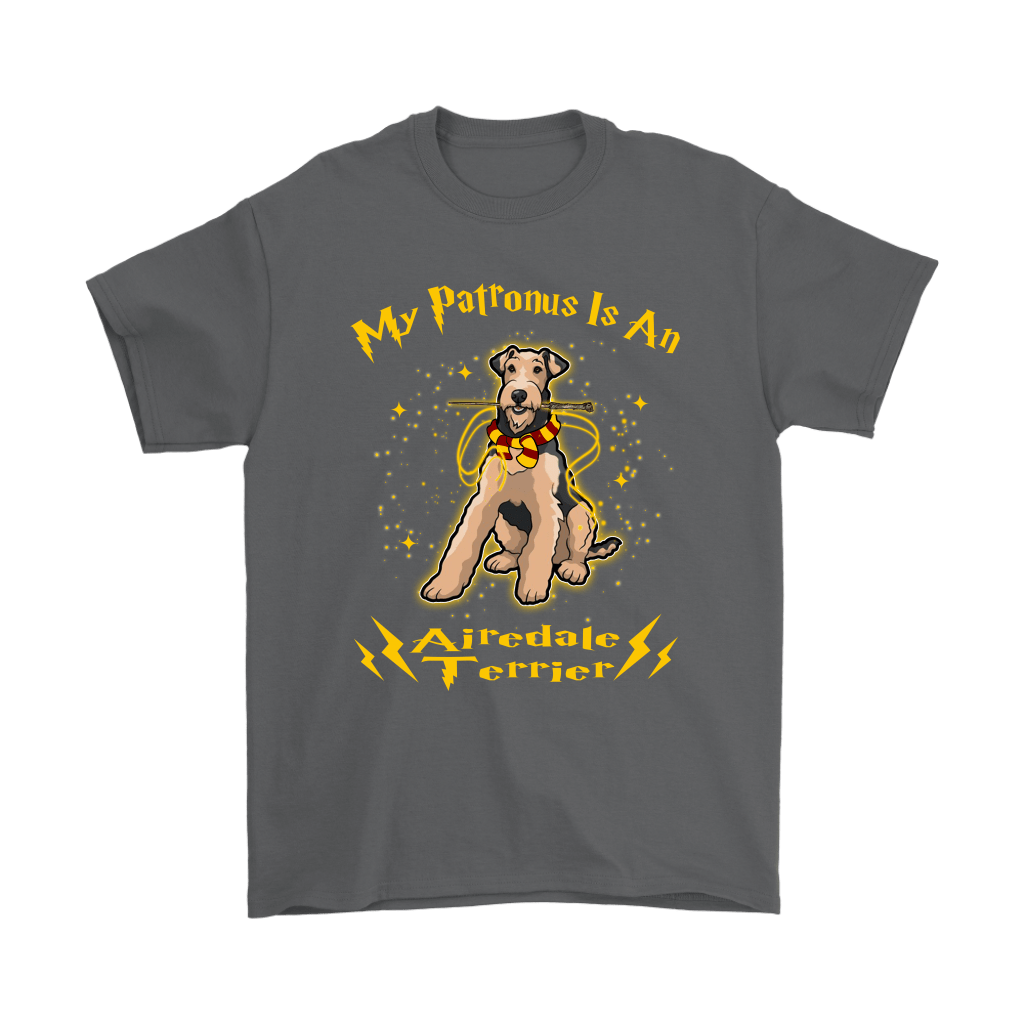 My Patronus Is A Airedale Terrier Harry Potter Dog Shirts 2