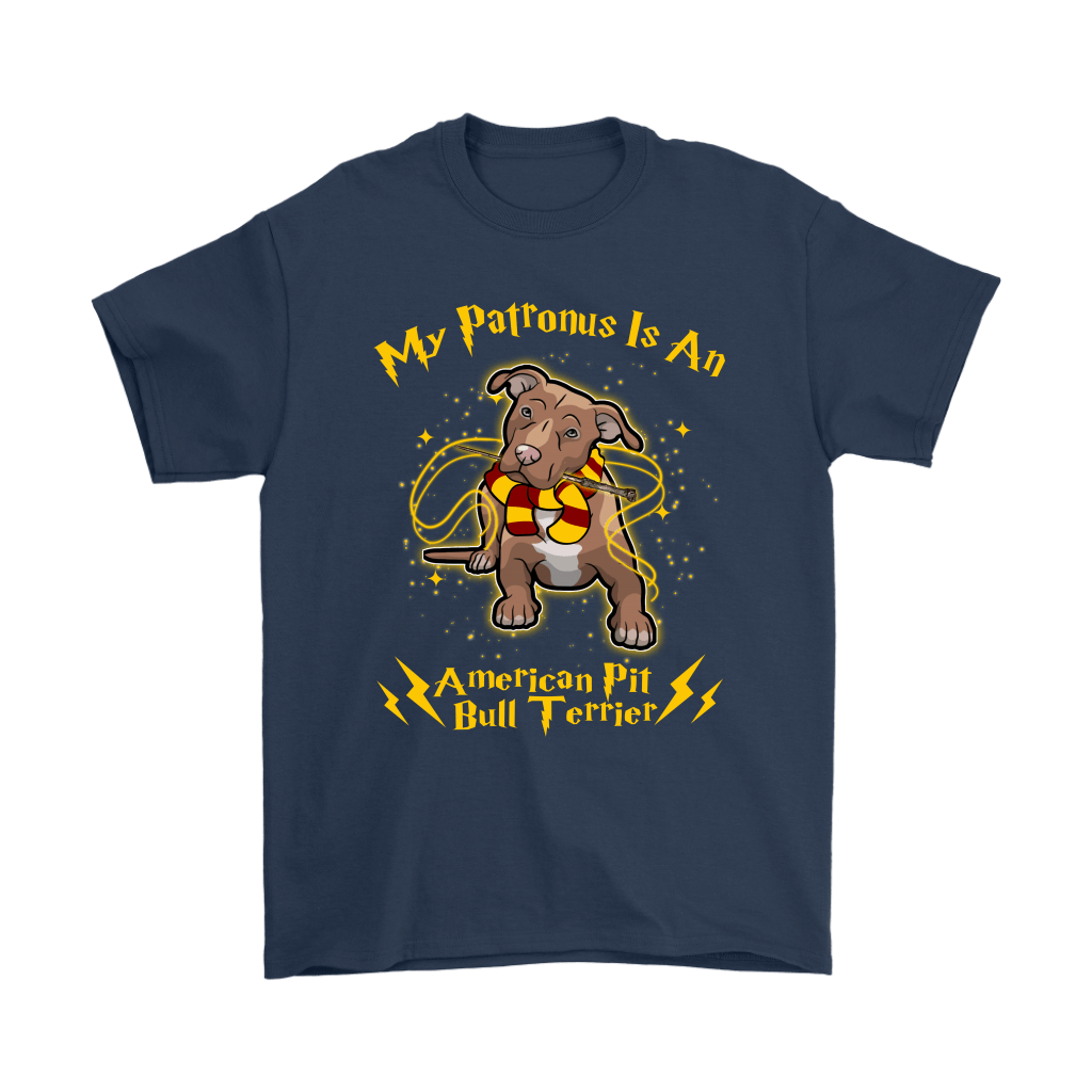 My Patronus Is A American Pit Bull Terrier Harry Potter Dog Shirts 3