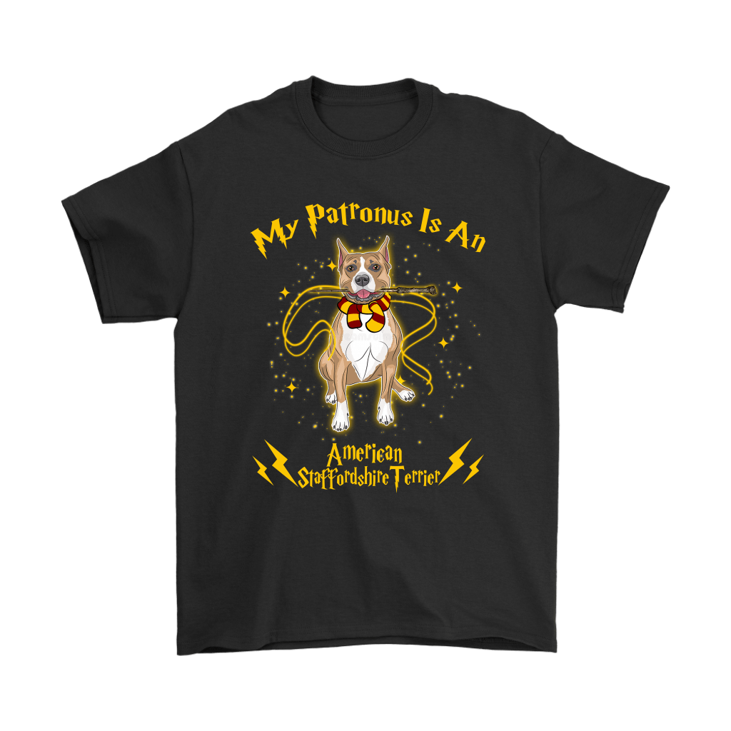 My Patronus Is A American Staffordshire Terrier Harry Potter Dog Shirts 1