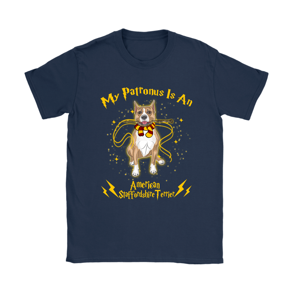 My Patronus Is A American Staffordshire Terrier Harry Potter Dog Shirts 10