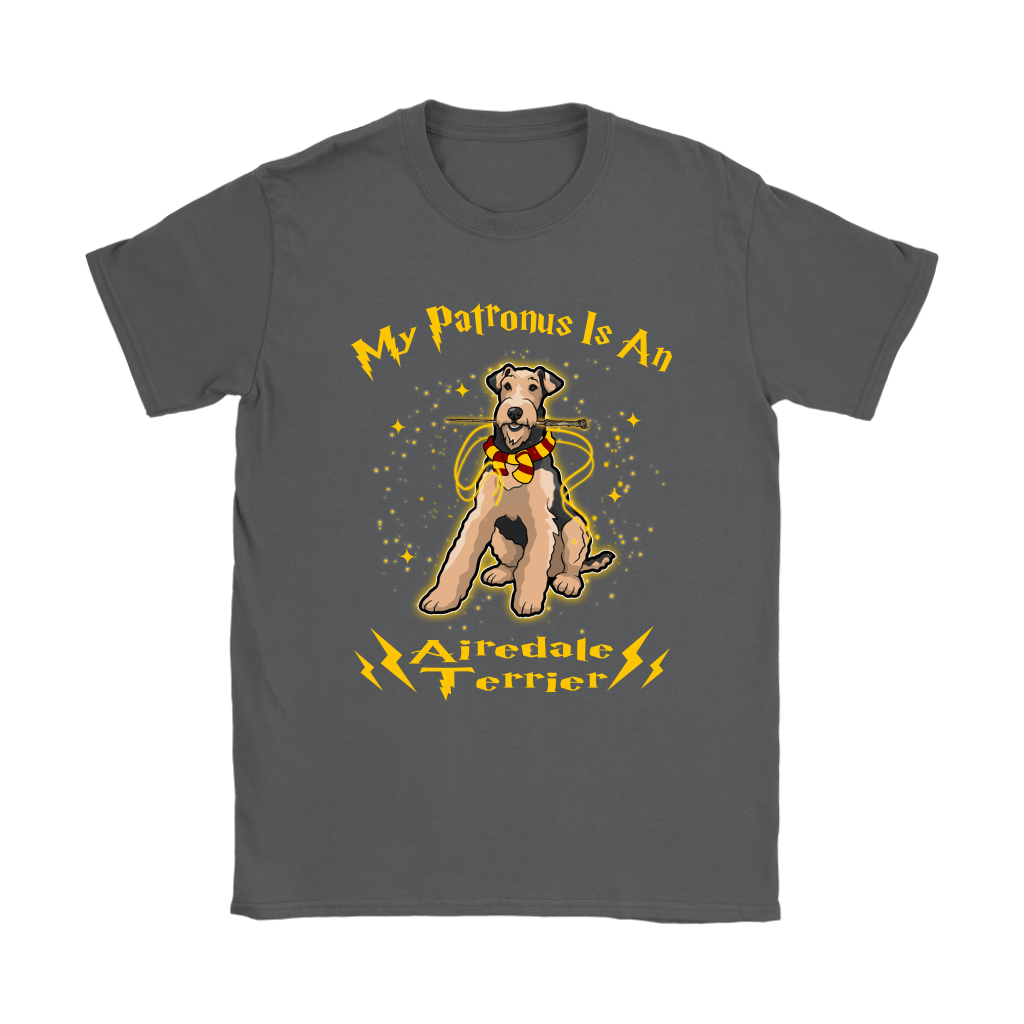 My Patronus Is A Airedale Terrier Harry Potter Dog Shirts 9