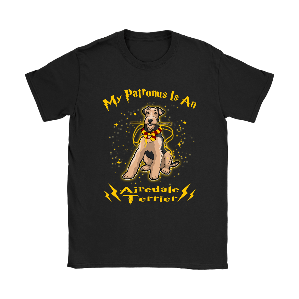 My Patronus Is A Airedale Terrier Harry Potter Dog Shirts 8