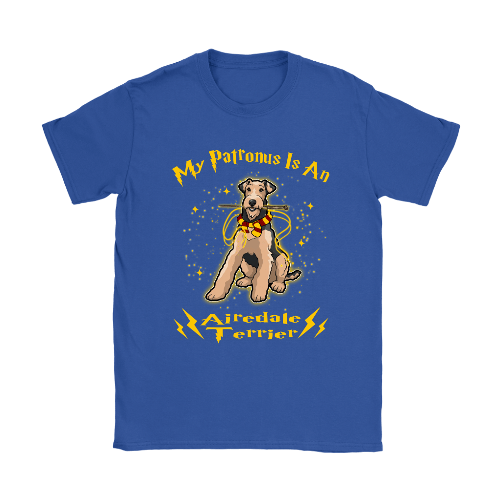 My Patronus Is A Airedale Terrier Harry Potter Dog Shirts 13