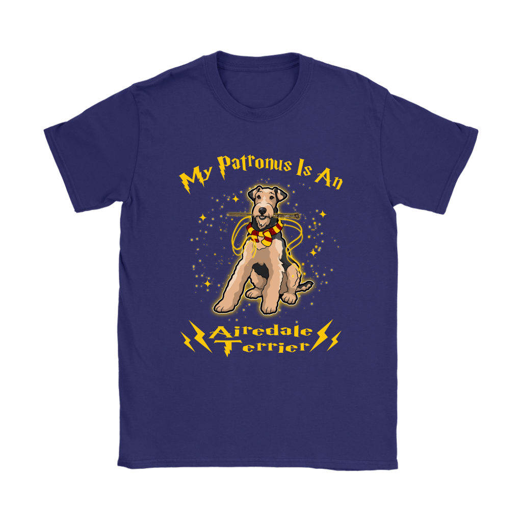My Patronus Is A Airedale Terrier Harry Potter Dog Shirts 11