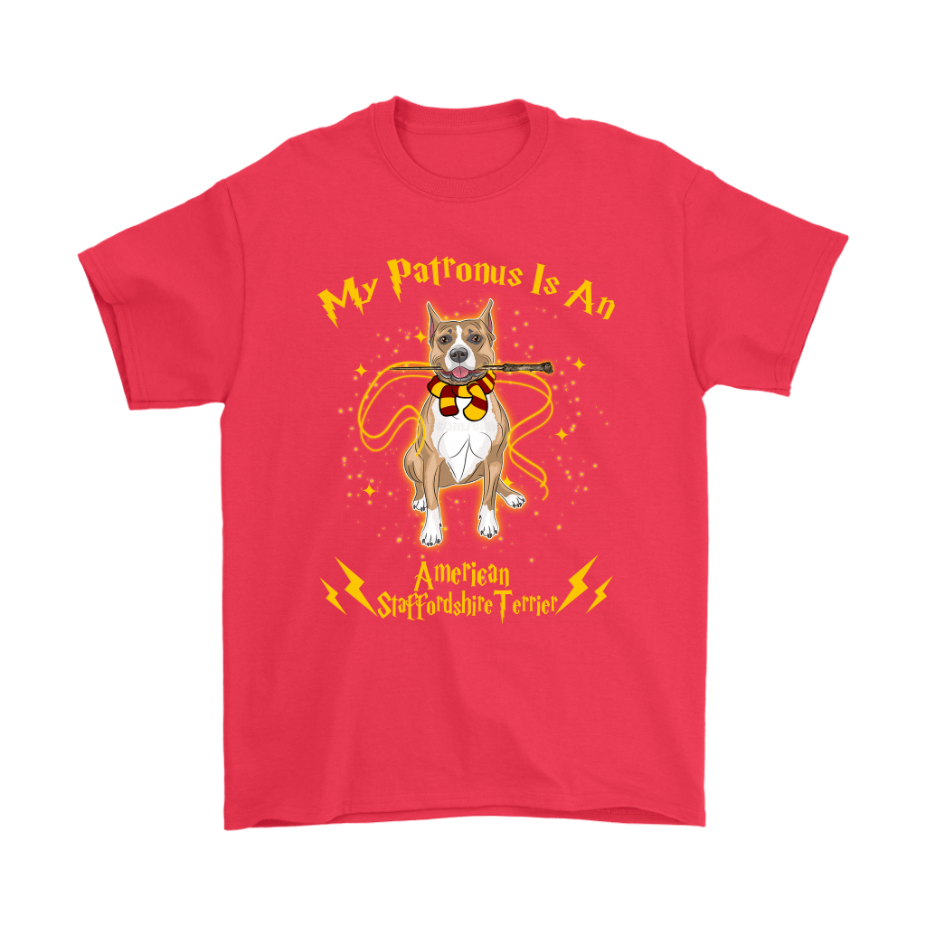 My Patronus Is A American Staffordshire Terrier Harry Potter Dog Shirts 5