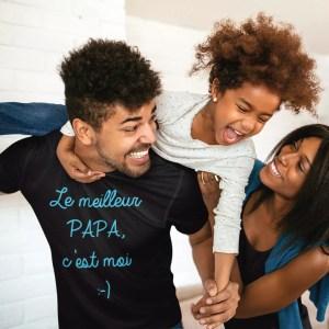 Teeshirt Homme -Le Meilleur Papa C'est Moi-01-01