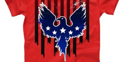 Grunge American Eagle USA Flag T-Shirt, USA, USA T-Shirt