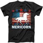 Mericorn American Unircorn T-Shirt, USA, USA T-Shirt