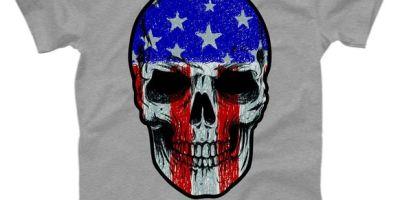Vintage USA American Patriot Skull T-Shirt, USA, USA T-Shirt