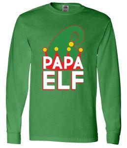 Christmas Papa Elf Long Sleeve T-Shirt