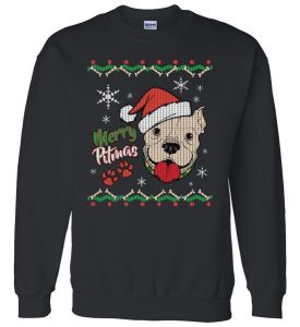 Merry Pitmas Ugly Christmas Sweater Sweater
