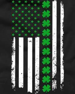 American Irish Clover Flag St. Patrick's Day T-Shirt