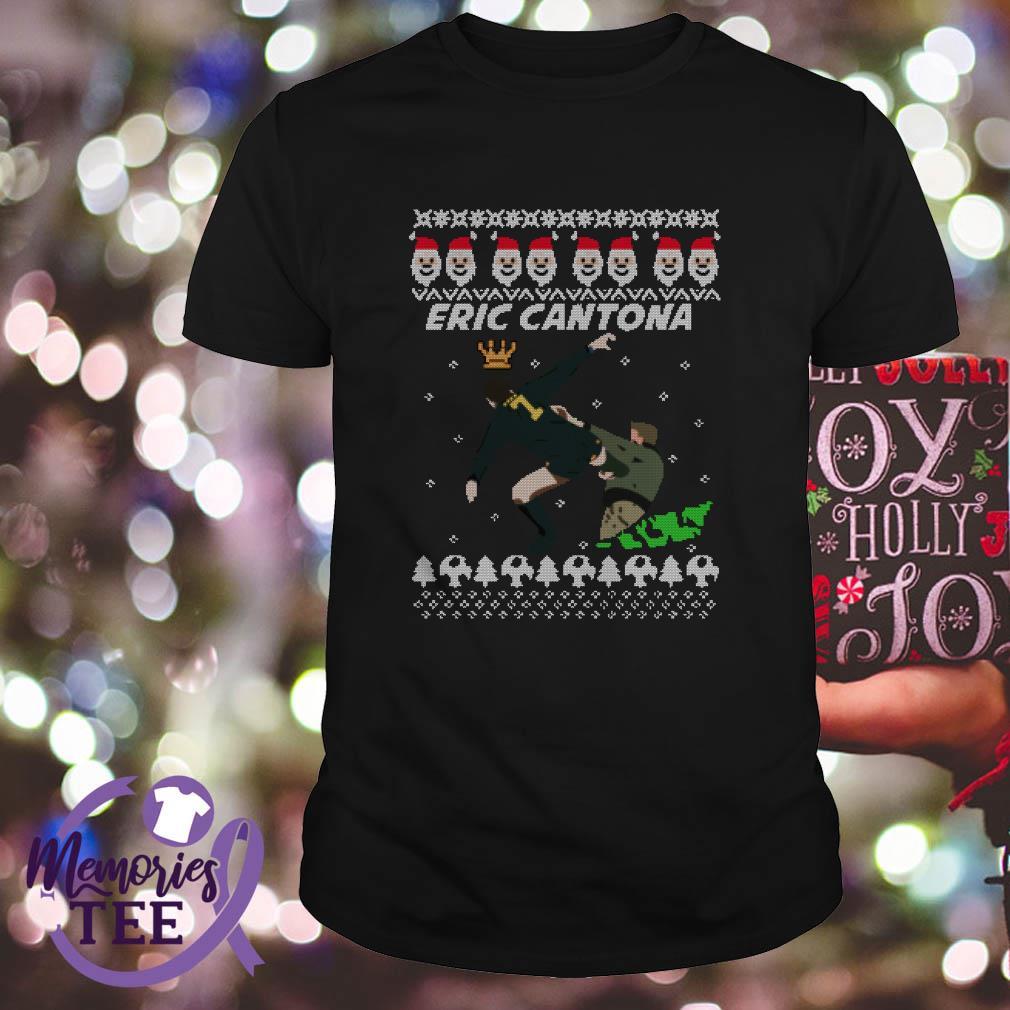By the jersey plug ireland. King Eric Cantona Manchester United Christmas sweatshirt ...