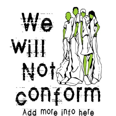 Youth Ministry, we will not conform