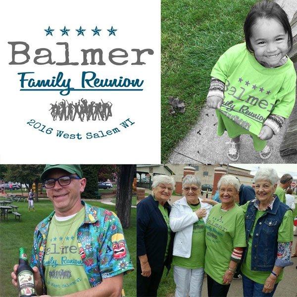 Balmer family reunion t-shirt combo photo