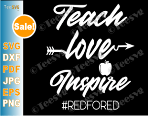 Download Teach Love Inspire SVG Apple Red For Ed Shirts | Teesvg