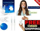 AuraGlow Teeth Whitening Kit LED Light 35% Carbamide Peroxide 2-5ml Gel Syringes