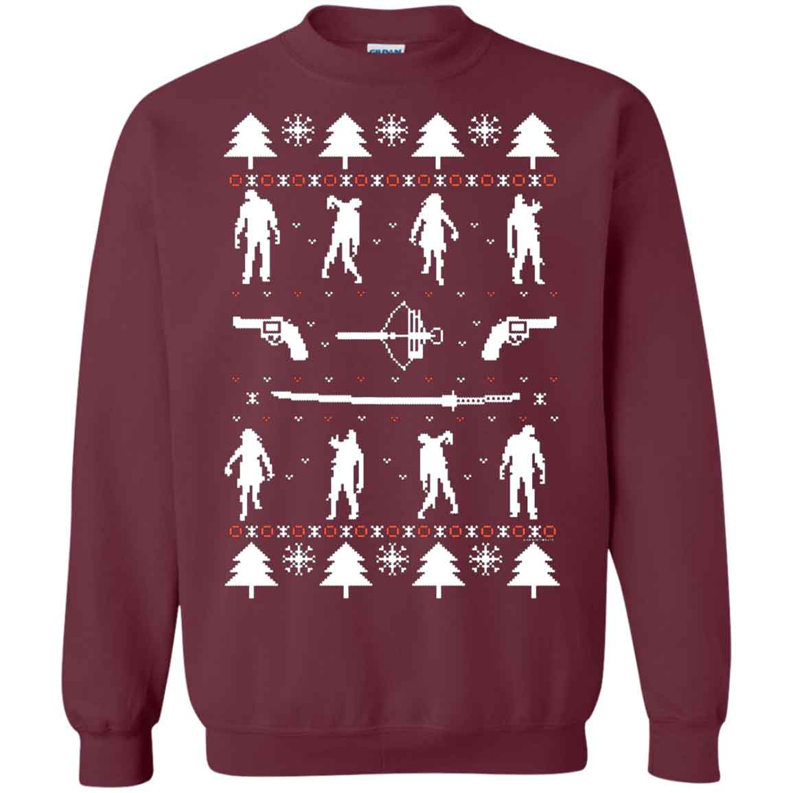 Twd Zombie Ugly Christmas The Walking Dead Christmas Ugly Sweater
