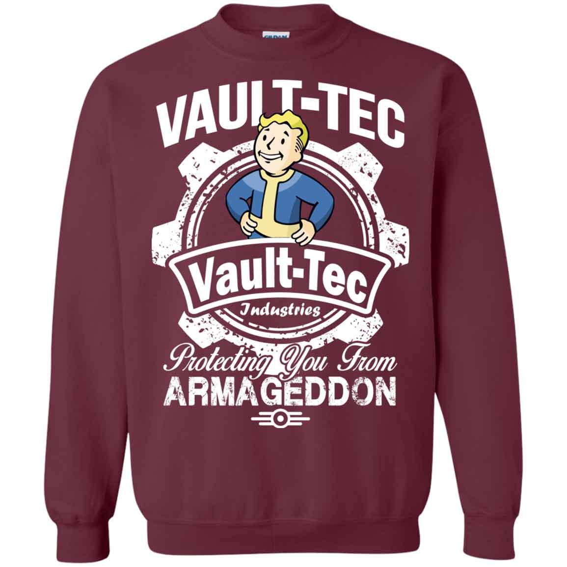 Vault Tec Christmas Sweater.Vault Tec Protecting You From Armegeddon Vault Tec Hoodies Sweatshirts