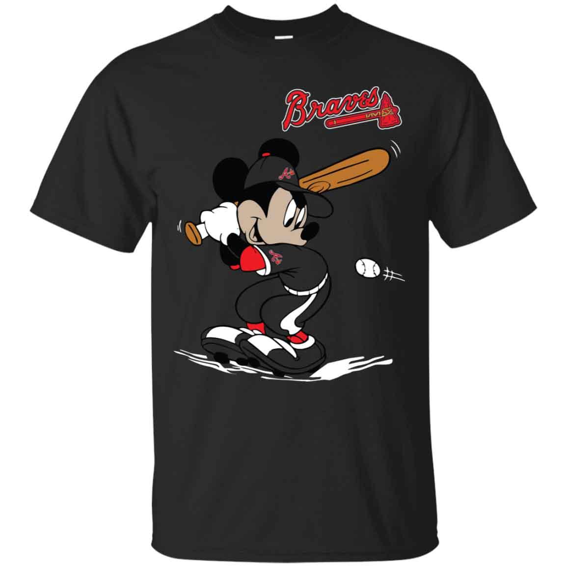 quality design c01cd 82d62 Mickey Mouse Baseball Atlanta Braves Hoodies Sweatshirts