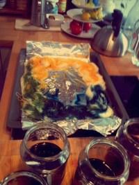 Wolle frben mit Ostereierfarben  Tee & Kekse