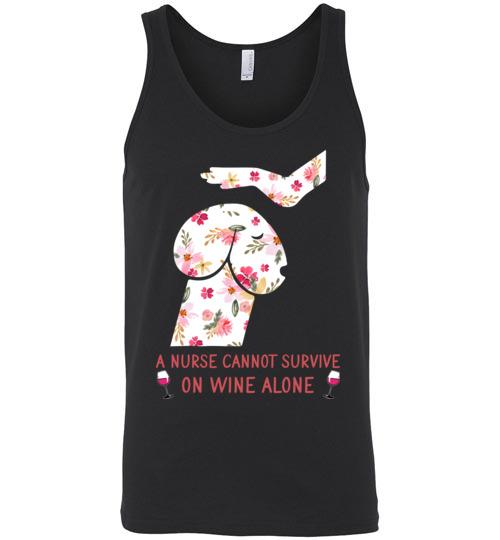 $24.95 – Funny Nurse Wine Shirts: Penis Dog Unisex Tank