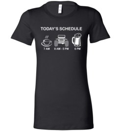 $19.95 – Today Schedule Coffee Jeep and Beer Funny lady T-Shirt
