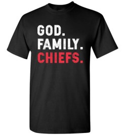 $18.95 – Christian Dad Father Day Gift God Family Chiefs T-Shirt