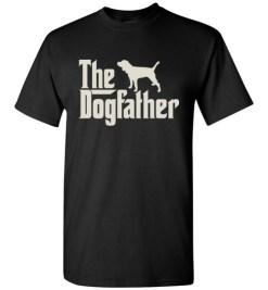 $18.95 – The Dogfather Beagle Shirts Funny Dog Dad T-Shirt