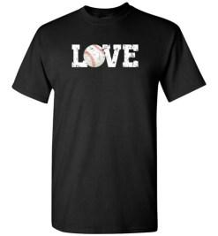 $18.95 – Love Baseball Graphic T-Shirts Gift for Baseball Mom T-Shirt