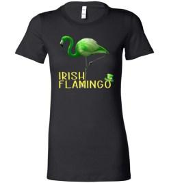 $19.95 – Irish Flamingo Funny St. Patrick Day Lady T-Shirt
